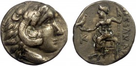 "Greek, imitation of Alexander III """"The Great"""" (336-323 BC), AR Drachm, uncertain mint c. 3rd-2nd centuries BC 3.28 g, 17 mm, aVF  Obverse: Head of H..."