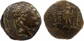 Greek, Seleukid Kings of Syria, Alexander II Zebinas 129-122 B.C, AE, Antioch c. 129/8 BC 6.72 g, 19 mm, aVF  Obverse: Diademed head right Reverse: BA...