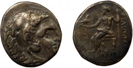 Greek, Kings of Macedon, Philip III Arrhidaios 323-317 BC, AR Drachm, Sardes c. 332-319 BC 4.15 g, 17 mm, aVF, toned  Obverse: Head of Herakles right,...