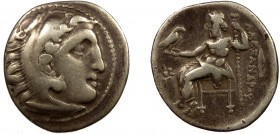 Greek, Kings of Macedon, Philip III Arrhidaios 323-317 BC, AR Drachm, Kolophon struck under Menander or Kleitos, circa 322-319 BC 3.99 g, 18 mm, aVF, ...