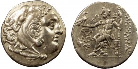 Greek, Kings of Macedon, Alexander III the Great 336-232 BC, AR Drachm, Chios c. 290-275 BC 4.13 g, 19 mm, VF  Obverse: Head of Herakles right, wearin...