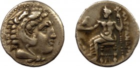 Greek, Kings of Macedon, Alexander III the Great 336-232 BC, AR Drachm, uncertain mint 4.19 g, 18 mm, aVF  Obverse: Head of Herakles right, wearing li...