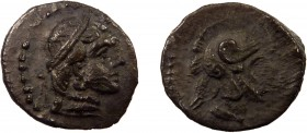Greek, Cilicia, Datames satrap of Cappadocia c. 378-372 BC, AR Obol, Tarsos 0.75 g, 10 mm, aVF, toned  Obverse: Diademed head of female (Aphrodite?) r...
