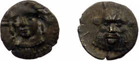 Greek, Cilicia, c. 4th Century BC, AR Obol, uncertain mint 0.52 g, 9 mm, aVF, toned  Obverse: Female head (Arethusa?) facing slightly left, wearing si...