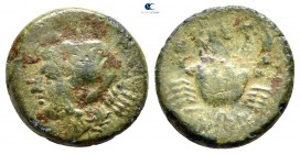 Bruttium. The Brettii circa 216-203 BC. Quartuncia Æ