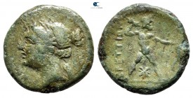 Bruttium. The Brettii circa 214-211 BC. Half Unit Æ