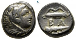 Kings of Macedon. Uncertain mint in Macedon. Time of  Alexander III - Kassander circa 325-310 BC. Unit Æ