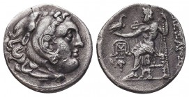 Greek, Kings of Macedon, Alexander III the Great 336-232 BC, AR Drachm,   Condition: Very Fine  Weight: 3.94 gr Diameter: 19 mm
