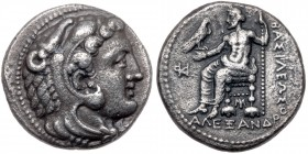 Macedonian Kingdom. Alexander III 'the Great'. Silver Tetradrachm (15.41 g), 336-323 BC. VF