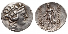 Islands off Thrace, Thasos. Silver Tetradrachm, ca. 90-75 BC. VF