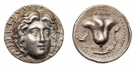 Islands off Caria, Rhodes. Silver Tetradrachm (13.45 g), ca. 229-205 BC. EF