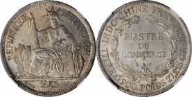 FRENCH INDO-CHINA. Piastre, 1886-A. Paris Mint. NGC MS-63.