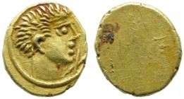 Etruria, Populonia, 10 Units, c. 300-250 BC; AV (g 0,55; mm 8; h -); Young male head r., on r., X, Rv. No type. HNItaly 135; EC I, n. 29.24. Very rare...
