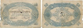 Country : ALGERIA  Face Value : 50 Francs Faux  Date : 09 mars 1904  Period/Province/Bank : Banque de l'Algérie  Catalogue reference : P.73x  Addition...