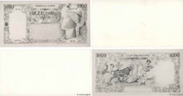 Country : ALGERIA  Face Value : 1000 Francs Photo  Date : 05 juin 1945  Period/Province/Bank : Banque de l'Algérie  Catalogue reference : P.(104p)  Al...