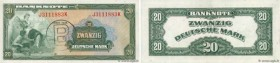 Country : GERMAN FEDERAL REPUBLIC  Face Value : 20 Deutsche Mark  Date : 1948  Period/Province/Bank : Occupation Alliée  Catalogue reference : P.6b  A...