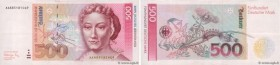 Country : GERMAN FEDERAL REPUBLIC  Face Value : 500 Deutsche Mark  Date : 01 août 1991  Period/Province/Bank : Deutsche Bundesbank  Catalogue referenc...