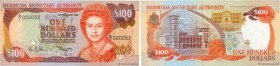Country : BERMUDA  Face Value : 100 Dollars Petit numéro  Date : 20 février 1989  Period/Province/Bank : Bermuda Monetary Authority  Catalogue referen...