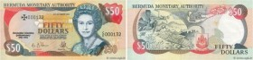 Country : BERMUDA  Face Value : 50 Dollars Commémoratif  Date : 12 octobre 1992  Period/Province/Bank : Bermuda Monetary Authority  Catalogue referenc...