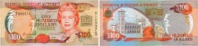 Country : BERMUDA  Face Value : 100 Dollars Petit numéro  Date : 24 mai 2000  Period/Province/Bank : Bermuda Monetary Authority  Catalogue reference :...