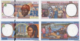 Country : CENTRAL AFRICAN STATES  Face Value : 5000 et 10000 Francs Lot  Date : 1994  Period/Province/Bank : B.E.A.C.  Department : Tchad  Catalogue r...