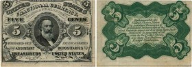 Country : UNITED STATES OF AMERICA  Face Value : 5 Cents  Date : 03 mars 1863  Period/Province/Bank : Fractional Currency  Catalogue reference : P.107...
