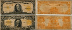 Country : UNITED STATES OF AMERICA  Face Value : 10 et 20 Dollars Lot  Date : 1922  Period/Province/Bank : Gold Certificate  Catalogue reference : P.2...