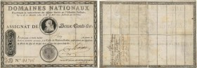 Country : FRANCE  Face Value : 200 Livres avec coupons  Date : 17 avril 1790  Period/Province/Bank : Assignats  Catalogue reference : Ass.01b  Additio...
