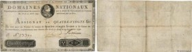 Country : FRANCE  Face Value : 80 Livres  Date : 29 septembre 1790  Period/Province/Bank : Assignats  Catalogue reference : Ass.07a  Additional refere...