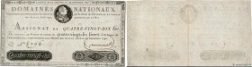 Country : FRANCE  Face Value : 90 Livres  Date : 29 septembre 1790  Period/Province/Bank : Assignats  Catalogue reference : Ass.08a  Additional refere...