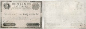 Country : FRANCE  Face Value : 500 Livres Faux  Date : 29 septembre 1790  Period/Province/Bank : Assignats  Catalogue reference : Ass.10a  Additional ...