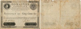 Country : FRANCE  Face Value : 500 Livres  Date : 19 juin 1791  Period/Province/Bank : Assignats  Catalogue reference : Ass.16a  Additional reference ...