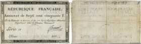 Country : FRANCE  Face Value : 750 Francs  Date : 07 janvier 1795  Period/Province/Bank : Assignats  Catalogue reference : Ass.49a  Additional referen...