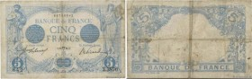 Country : FRANCE  Face Value : 5 Francs BLEU  Date : 18 avril 1914  Period/Province/Bank : Banque de France, XXe siècle  Catalogue reference : F.02.22...