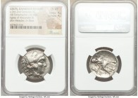 DANUBE REGION. Balkan Tribes. Imitating Alexander III the Great. Ca. 3rd-2nd centuries BC. AR tetradrachm (26mm, 16.90 gm, 9h). NGC Choice VF 4/5 - 4/...
