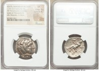DANUBE REGION. Balkan Tribes. Imitating Alexander III the Great. Ca. 3rd-2nd centuries BC. AR tetradrachm (27mm, 16.84 gm, 2h). NGC VF 5/5 - 4/5. Celt...