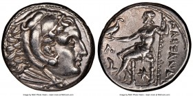 MACEDONIAN KINGDOM. Alexander III the Great (336-323 BC). AR tetradrachm (26mm, 1h). NGC Choice XF. Posthumous issue of Amphipolis, under Cassander, 3...