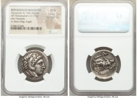 MACEDONIAN KINGDOM. Alexander III the Great (336-323 BC). AR tetradrachm (26mm, 17.17 gm, 2h). NGC XF S 5/5 - 5/5. Lifetime issue of 'Amphipolis', ca....