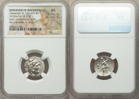 MACEDONIAN KINGDOM. Alexander III the Great (336-323 BC). AR drachm (18mm, 4.27 gm, 11h). NGC MS 5/5 - 4/5. Posthumous issue of Abydus, ca. 310-301 BC...