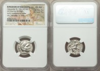 MACEDONIAN KINGDOM. Alexander III the Great (336-323 BC). AR drachm (19mm, 4.25 gm, 12h). NGC Choice AU 5/5 - 5/5. Early posthumous issue of Colophon,...