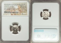 MACEDONIAN KINGDOM. Alexander III the Great (336-323 BC). AR drachm (16mm, 4.23 gm, 5h). NGC Choice AU 4/5 - 5/5. Early posthumous issue, Sardes, ca. ...
