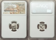 MACEDONIAN KINGDOM. Alexander III the Great (336-323 BC). AR drachm (16mm, 3h). NGC Choice VF. Early posthumous issue of 'Babylon', ca. 323-317 BC. He...