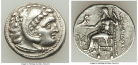 MACEDONIAN KINGDOM. Alexander III the Great (336-323 BC). AR drachm (18mm, 4.30 gm, 12h). Choice VF. Posthumous issue of 'Colophon', 310-301 BC. Head ...