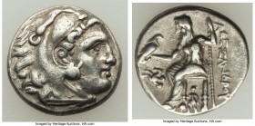 MACEDONIAN KINGDOM. Alexander III the Great (336-323 BC). AR drachm (17mm, 4.18 gm, 5h). About VF. Posthumous issue of Lampsakos, under Antigonos I Mo...
