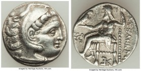 MACEDONIAN KINGDOM. Alexander III the Great (336-323 BC). AR drachm (18mm, 4.16 gm, 11h). VF. Posthumous issue of Colophon, ca. 319-310 BC. Head of He...
