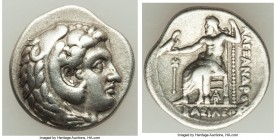 MACEDONIAN KINGDOM. Alexander III the Great (336-323 BC). AR tetradrachm (18mm, 4.14 gm, 1h). XF. Late lifetime-early posthumous issue of Aradus, ca. ...