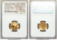 THRACE. Mesambria. Alexander III the Great (336-323 BC). AV stater (18mm, 8.46 gm, 12h). NGC Choice XF 5/5 - 3/5. Late posthumous issue, ca. 250-225 B...