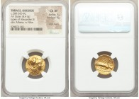 THRACE. Odessus. Alexander III the Great (336-323 BC). AV stater (17mm, 8.41 gm, 4h). NGC Choice XF 5/5 - 4/5, edge marks. Posthumous issue, ca. 280-2...