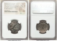 THESSALY. Thessalian League. Ca. 2nd-1st centuries BC. AR stater or double victoriatus (25mm, 5.37 gm, 12h). NGC AU 5/5 - 3/5. Poluzenou and Eucolus, ...