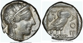 ATTICA. Athens. Ca. 440-404 BC. AR tetradrachm (23mm, 17.14 gm, 10h). NGC XF 3/5 - 3/5, edge cuts. Mid-mass coinage issue. Head of Athena right, weari...